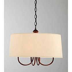 Indoor 4-light Antique Copper Chandelier