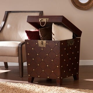 Upton Home Nailhead Espresso End Table Trunk