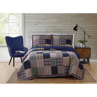 Bradley Cotton 3-Piece Quilt Set