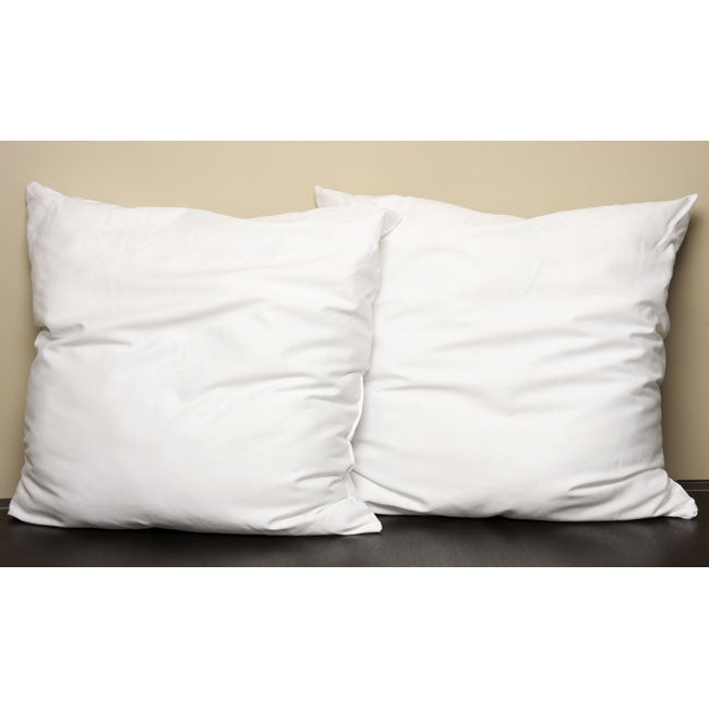 Polyester Euro-size Pillows (Set of 2)