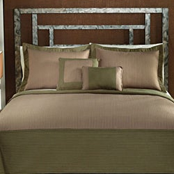 Barclay Sage Green and Tan Hotel 3-Piece Quilt Set