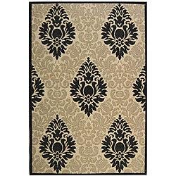 Safavieh Indoor/ Outdoor St. Barts Sand/ Black Rug (7'10 x 11')