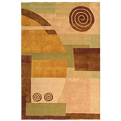 Safavieh Handmade Rodeo Drive Soho Beige New Zealand Wool Rug (9'6 x 13'6)