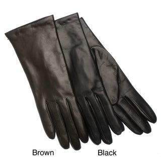 Portolano Women's Italian Leather and Cashmere Gloves