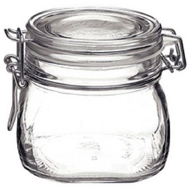Bormioli Rocco Italian Fido Glass .5-liter Canning Jars (Pack of 6)