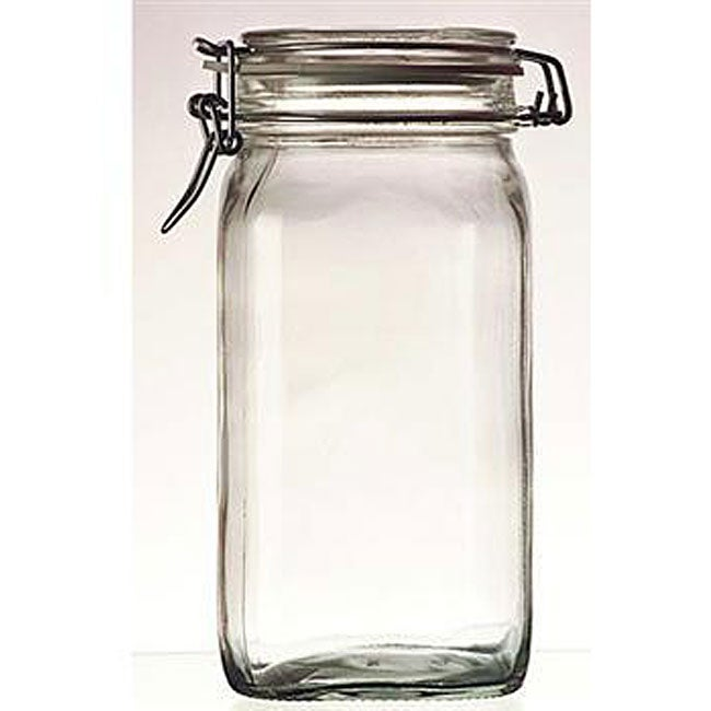 Bormioli Rocco 1-liter Fido Glass Canning Jars (Pack of 3)