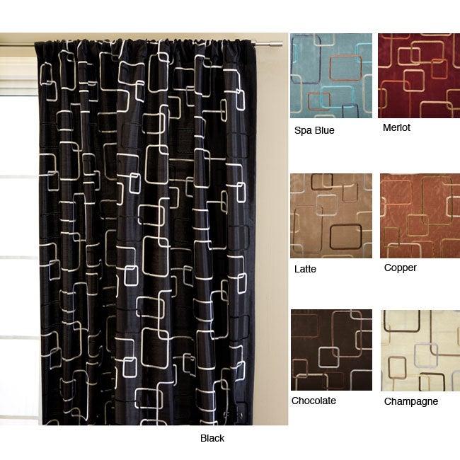 Madison Square Rod Pocket 96-inch Curtain Panel