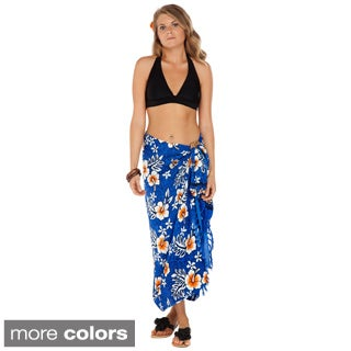 Women's Hibiscus Sarong (Indonesia)