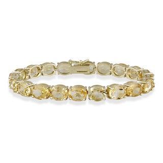 Glitzy Rocks 33 TGW Gemstone Bracelet