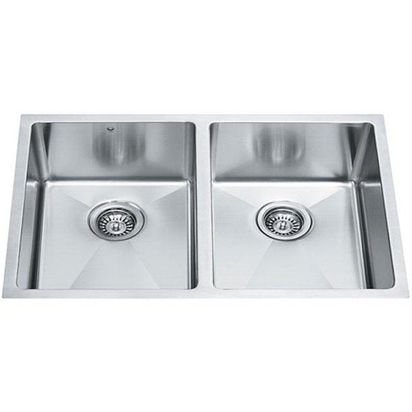 29-inch Undermount Stainless Steel 16 Gauge Stainless Steel Double Kitchen sink