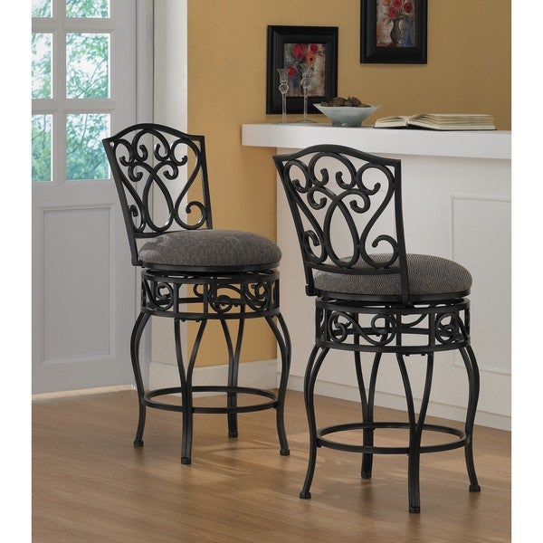 Chase 24-inch Swivel Counter Stools (Set of 2)