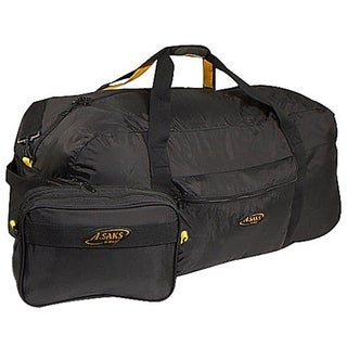 A.Saks 36-inch Lightweight Parachute Nylon Duffel Bag with Pouch