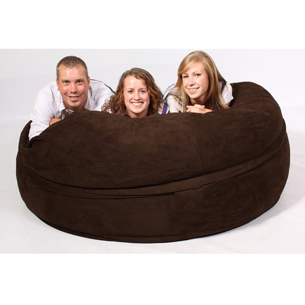 FufSack Chocolate Brown Sofa Sleeper Lounge Chair