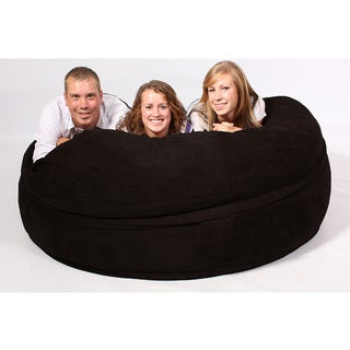 FufSack Black Sofa Sleeper Lounge Chair