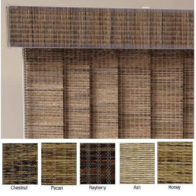 Edinborough Fabric Vertical Blinds (52 in. W x Custom Length)