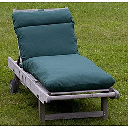 Outdoor Forest Green Chaise Lounge Cushion