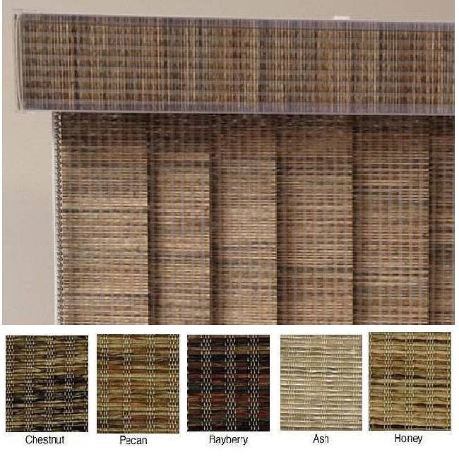 Edinborough Fabric Vertical Blinds (84 in. W x Custom Length)