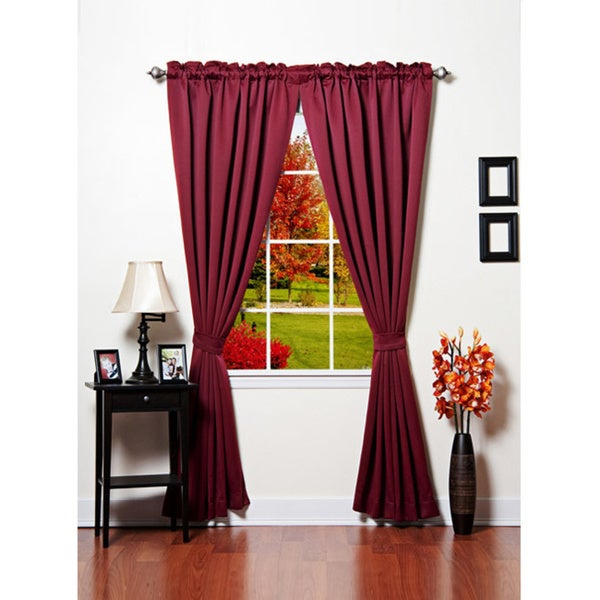 Lights Out Solid Thermal Insulated 108-inch Blackout Curtains