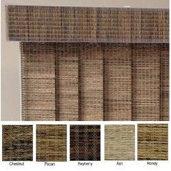 Edinborough Fabric Vertical Blinds and Valance (100 in. W x Custom Length)