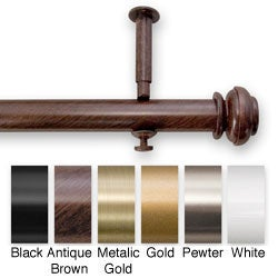 Bold Pole 28 to 48-inch Adjustable Curtain Rod Set