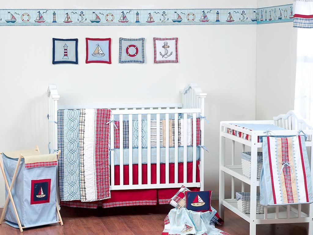Bacati Stripes and Plaids 4-piece Crib Bedding Set