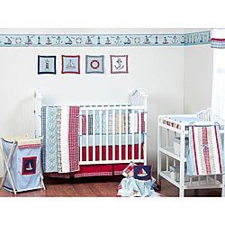 Bacati Stripes and Plaids 4-piece Crib Bedding Set