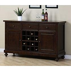 Halifax Brown Wine Rack/ Buffet Table