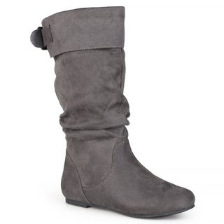 Journee Collection Women's 'Shelley-8' Regular and Wide-calf Slouch Mid-Calf Microsuede Boot