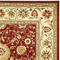 Safavieh Lyndhurst Collection Majestic Maroon/Ivory Rug (8' x 11')