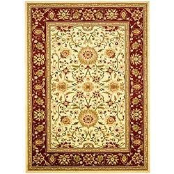 Safavieh Lyndhurst Collection Majestic Ivory/ Red Rug (8' x 11')