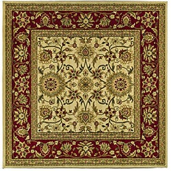Safavieh Lyndhurst Collection Majestic Ivory/ Red Rug (6' Square)
