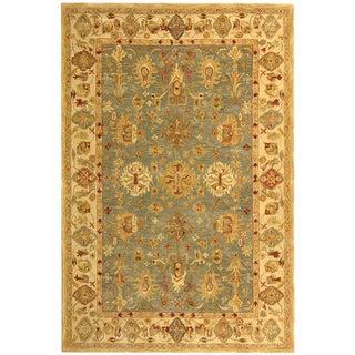 Safavieh Handmade Heirloom Blue/ Ivory Wool Rug (9' x 12')