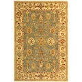 Safavieh Handmade Heirloom Blue/ Ivory Wool Rug (9' x 12')