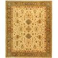Safavieh Handmade Heirloom Ivory/ Light Green Wool Rug (9' x 12')