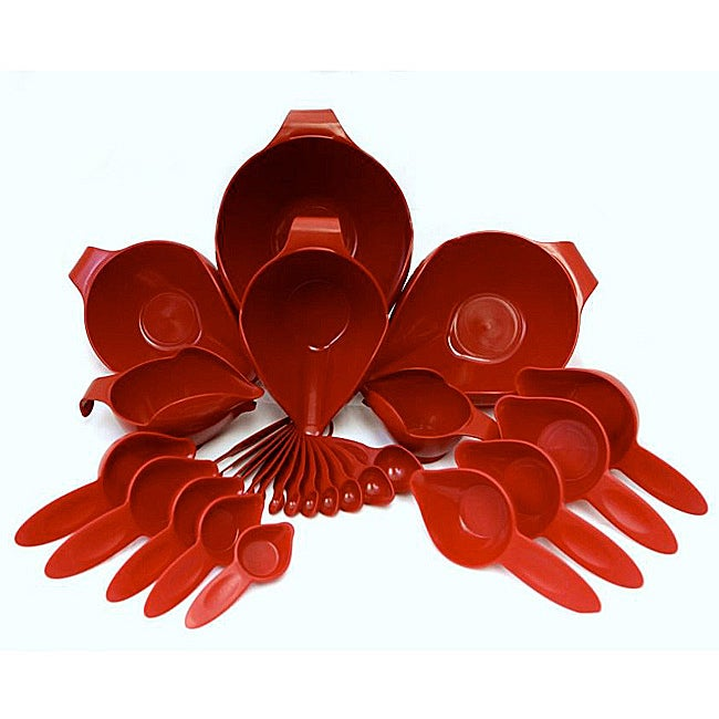 POURfect 27-piece 'Empire Red' Bowl and Tool Set