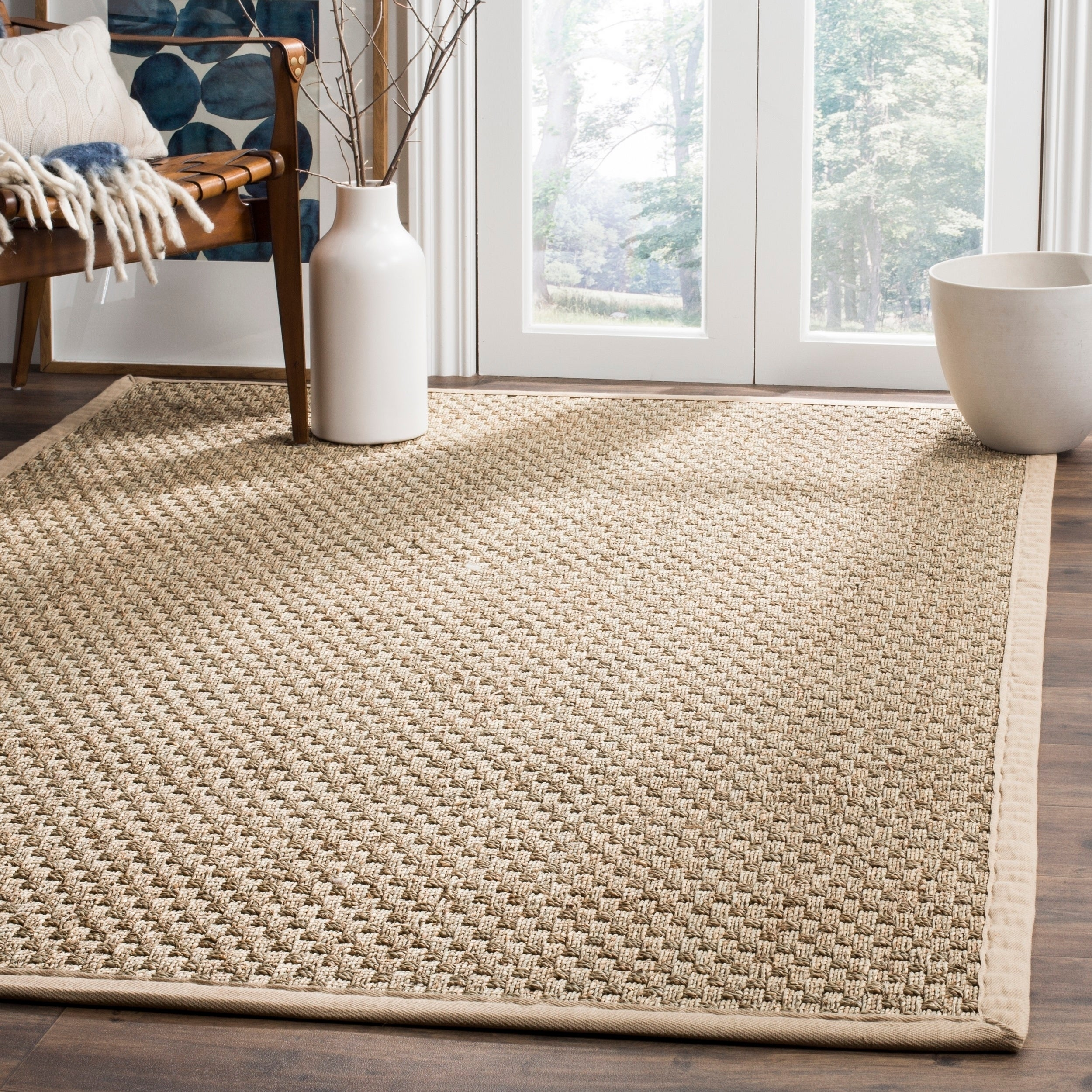 AT HOME by O Hand-woven Sisal Natural/ Beige Seagrass Rug (4' x 6') at Sears.com
