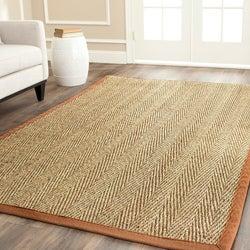 Safavieh Hand-woven Sisal Natural/ Medium Brown Seagrass Rug (9' x 12')