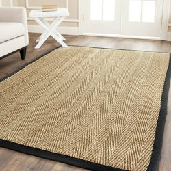 Safavieh Hand-woven Sisal Natural/ Black Seagrass Rug (9' x 12')