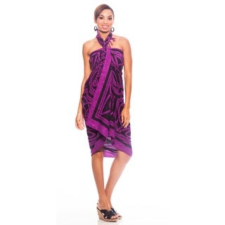 Royal Purple Celtic Circles Sarong (Indonesia)