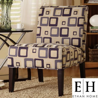 ETHAN HOME Decor Cube Print Accent Lounge Chair