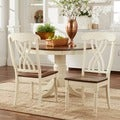ETHAN HOME Mackenzie Country Antique White Side Chair (Set of 2)