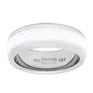 Men's Titanium and Ceramic Spinner Ring