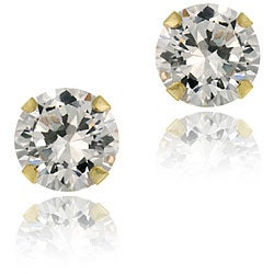 Icz Stonez 14k Gold Cubic Zirconia 5-mm Round Stud Earrings