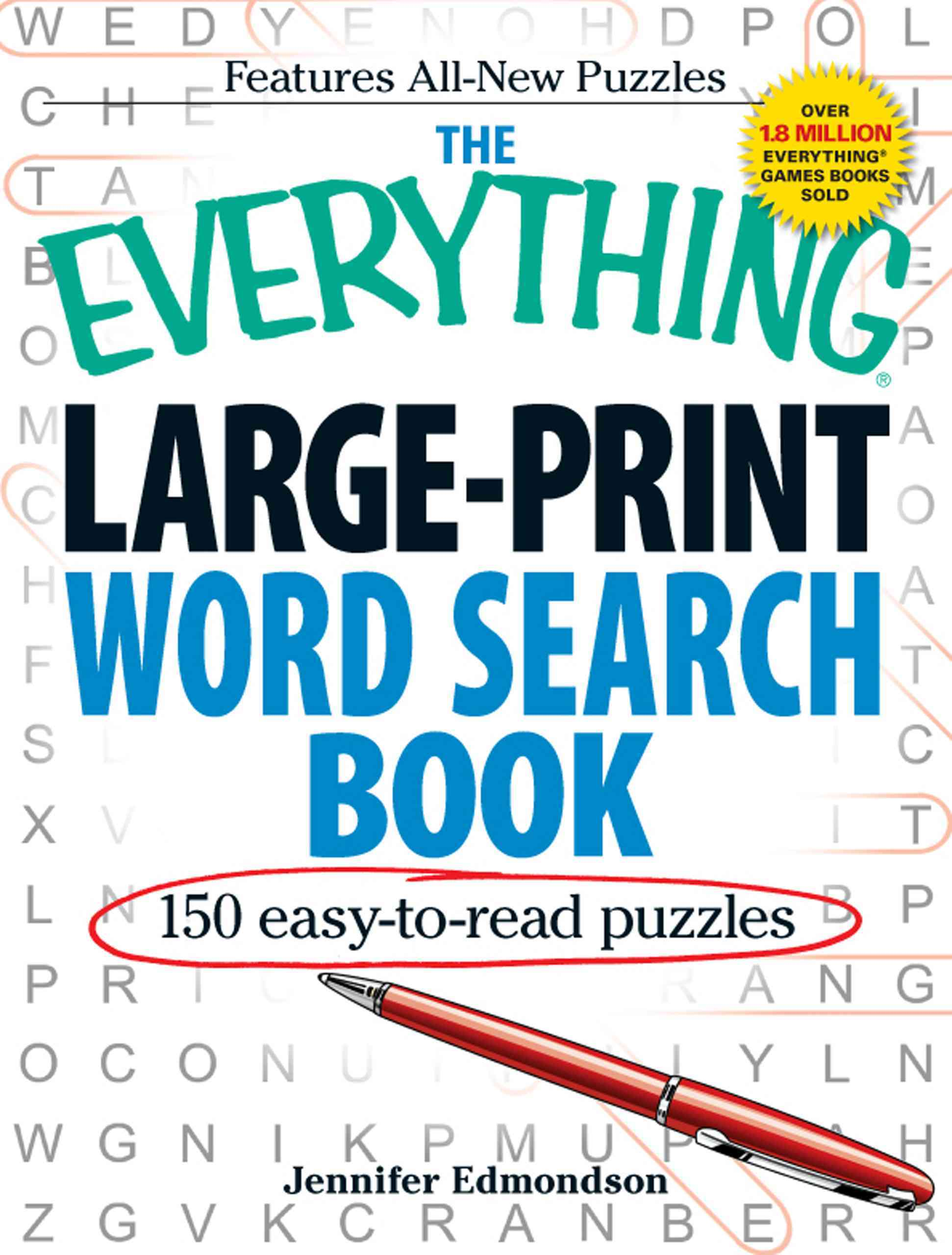 The Everything Large-Print Word Search Book: e50 Easy-to-Read Puzzles (Paperback)