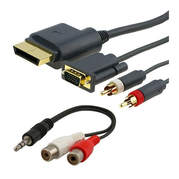 INSTEN Xbox 360 - HD VGA AV Cable + RCA To 3.5MM Adapter