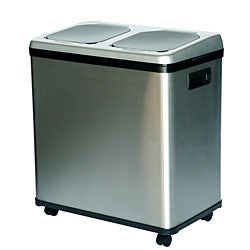iTouchless NX 16-gallon Stainless Steel Recycle Bin
