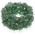 Glitzy Rocks Aventurine Chip Multi-row Stretch Bracelet