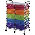 Blue Hills Studio Multicolor 20-drawer Double-wide Storage Cart