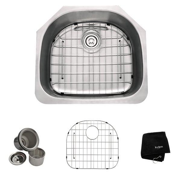 Kraus 24-inch Undermount Steel 16-gauge Kitchen Sink