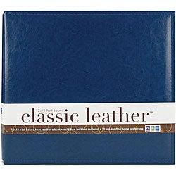We R Classic 12x12 Cobalt Leather Postbound Album